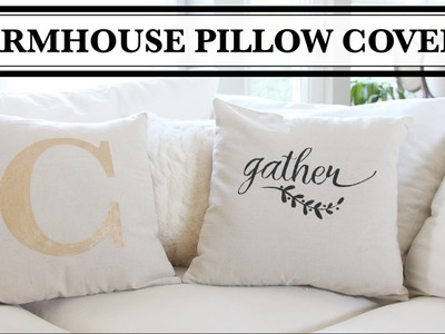 DIY Farmhouse Pillow Covers - Almohadas decorativas