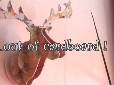 Diy-how to create a deer head in 3D with cardboard !!@  home decor  @!!