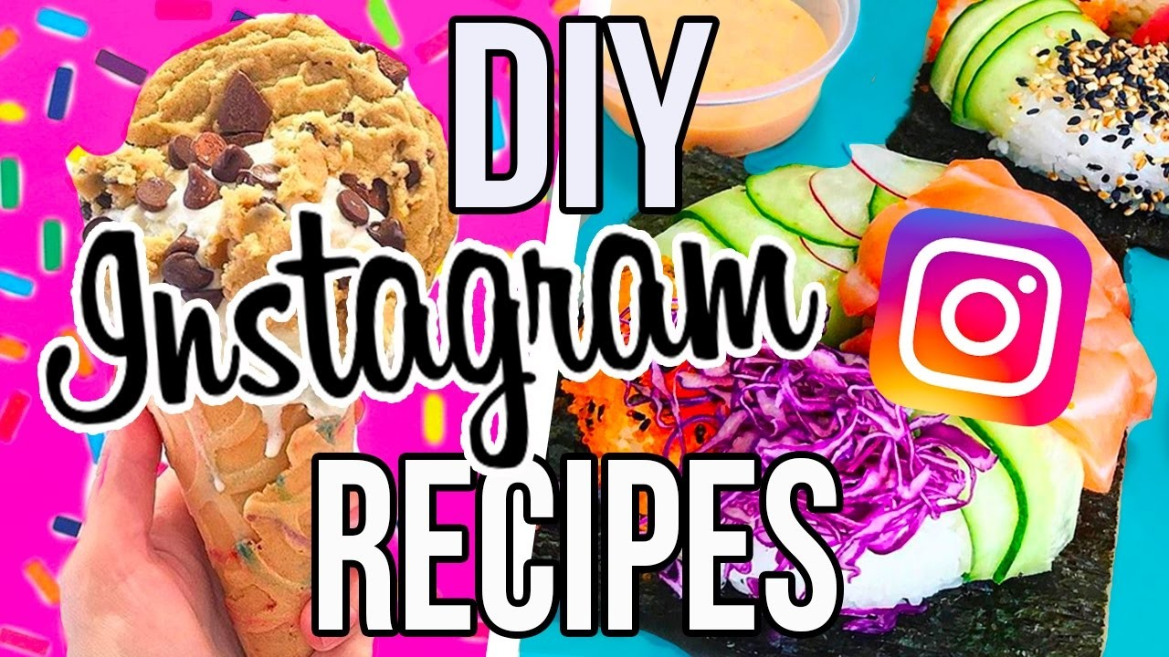 DIY INSTAGRAM FOOD!! Sushi Donuts, Cookie Dough Ice Cream & More!