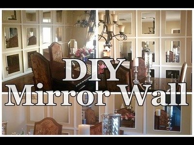 DIY MIRRORED WALL*********THE UPDATE************