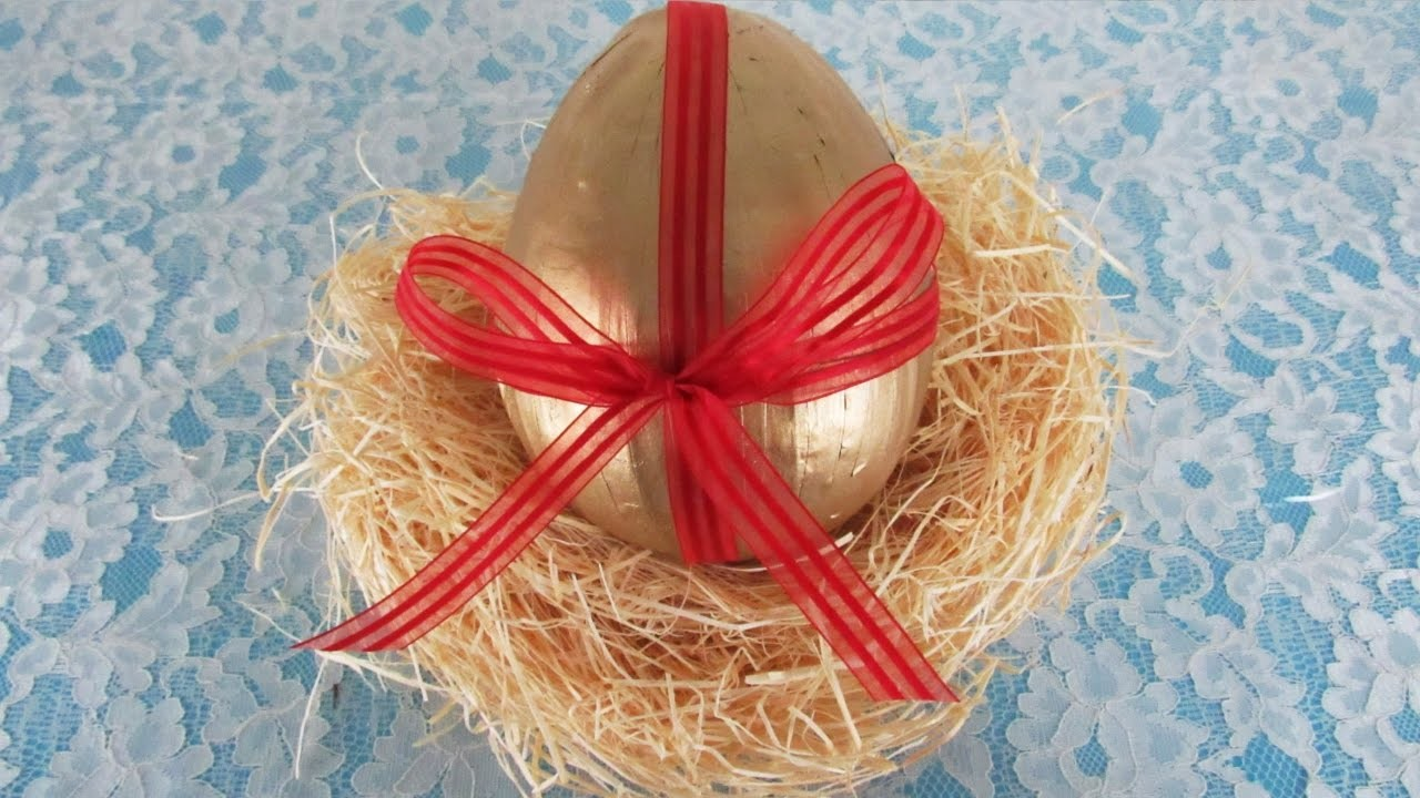 DIY - Newspaper Easter egg