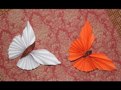 DIY - Paper Butterfly | How to make paper butterfly | CUT and EASY Paper Butterfly Origami