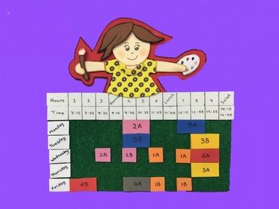 DIY Planner ideas. Timetable.