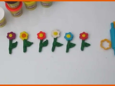 DIY Play Doh Flowers - How to make play doh flowers