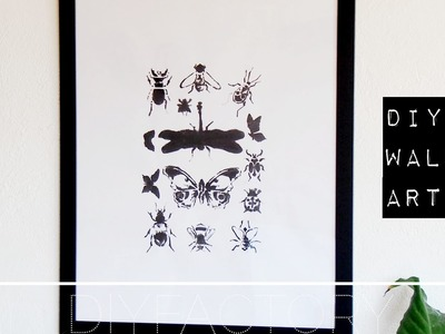DIY poster from stencil - easy & simple room decor