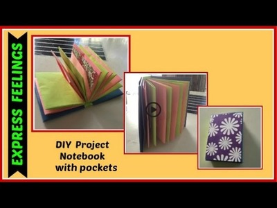 DIY Project ideas - Modular origami  notebook with pockets. (Fastforward mode)