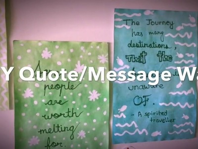 DIY Quote Wall!! Make your own customized wall decor using just 3 simple materials!!