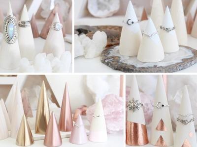 DIY Ring Displays   Decorative Wood Cone Ideas