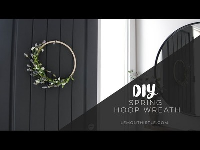 DIY Spring Hoop Wreath: Spring DIY + Decor Challenge