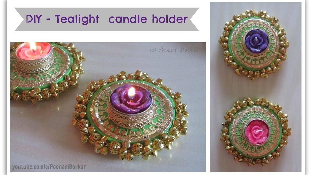 Diy Tealight Candle Holder Beautiful Golden Diya Tealight Candle Holder For Diwali Decoration