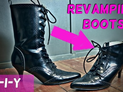DIY VICTORIAN BOOT REVAMP || Modifying my Demonia Fury-100