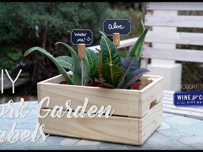 DIY Wine Cork Garden Labels