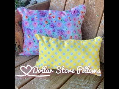 Dollar Store DIY | $3 Spring Pillows