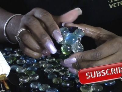 Dollar Tree DIY Mosaic Glass Napkin Rings