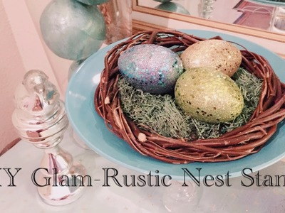 Dollar Tree DIY Spring Bird's Nest Stand - Quick, Easy, $4