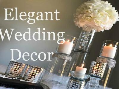 ELEGANT DOLLAR TREE  WEDDING CENTERPIECE    DIY Wedding Decorations