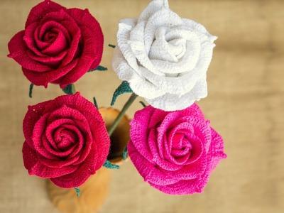 [Flower] Combo Rose Crochet Tutorial