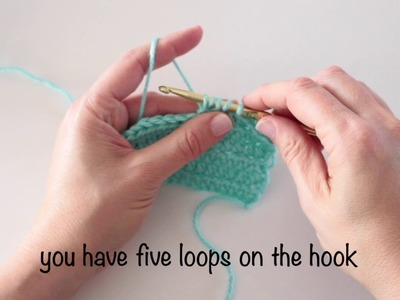 How to crochet a half double crochet decrease stitch