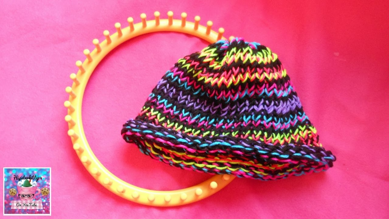 How to Loom Knit a Hat (Loom Knitting Basics)