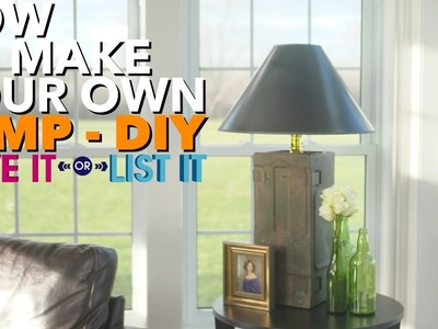 How to Make a Custom Lamp   DIY