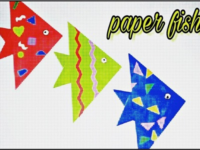 How to make a cute  paper fish || paper crafts for kids - Easy tutorials step by step