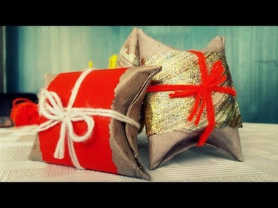 How to Make a Gift Box by Toilet Paper Roll!
