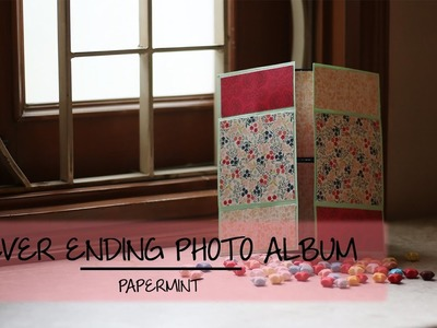 How to make a never ending photo album | DIY | simple paper folding