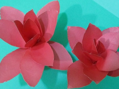 How to make a paper flower || easy origami paper flowers || water lily