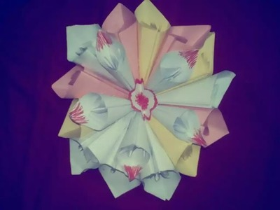 How to Make a Paper Flowers | Easy Origami Flowers For Beginners Making (very easy) - HD