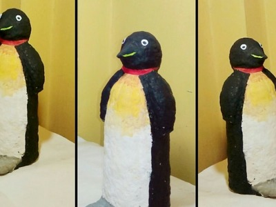 How to Make a Penguin from Paper Mache