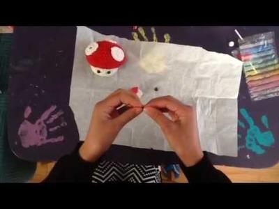 How to make a super cute clay Mario mushroom