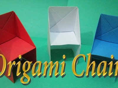 How to make an origami chair step by step    paper chair.