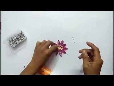 How to make beautiful flower for greeting cards