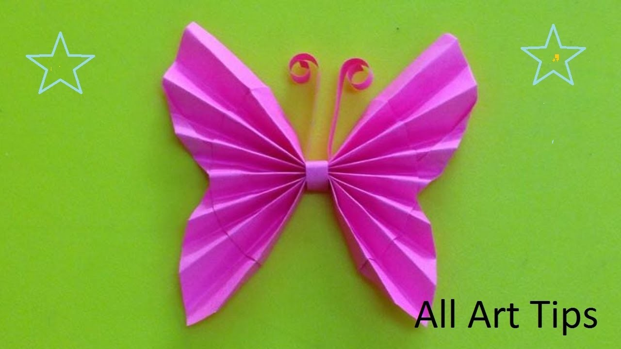 How to make paper butterfly (All Art Tips)