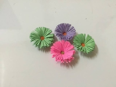How to make paper flowers #.Gerbera FREE! SO EASY!!