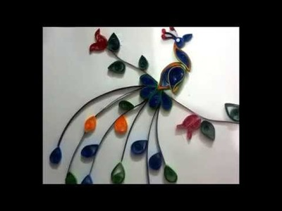How to make Simple Beautiful Peacock using Paper Quilling – Tutorial for Beginners Part 5