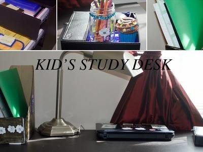 Kids Study Desk Organization  Ideas   DIY Desk Organizer   Kids Study Desk   Organizing Ideas