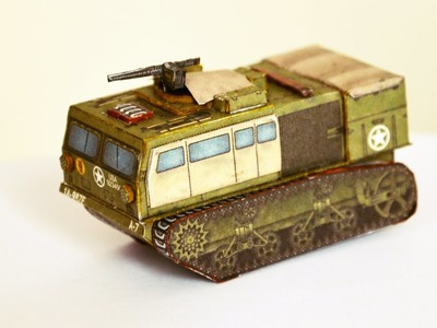 M4 High-Speed Tractor - paper model ON FIRE!