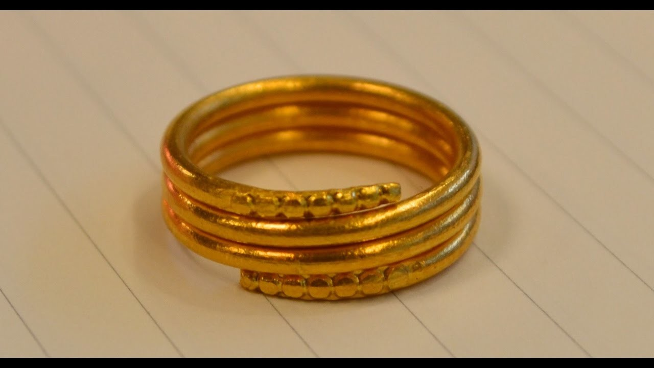 make a gold ring yourself at home diy 2017 my crafts and
