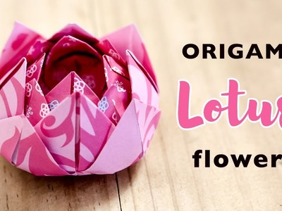 Origami | How to Make Paper Flowers | Origami Lotus Flower | DIY | Without tape or glue | Kids Learn