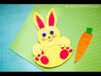 Rocking Paper Rabbit Craft | Easy Paper Craft Ideas For Kids | ArtsyCraftsyMom
