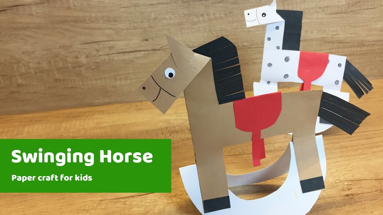 Swinging horse diy for kids to do at home my crafts and for Horse crafts for kids