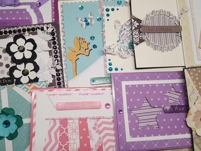 10 cards 1 kit. Crafty Ola's '' Love my scraps'' handmade cards.Set #3