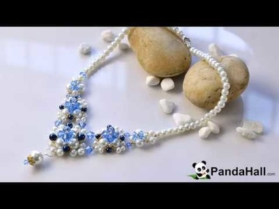 144  Pandahall Tutorial on How to Make an Exquisite Pearl Bead Flower Pendant Necklace 1