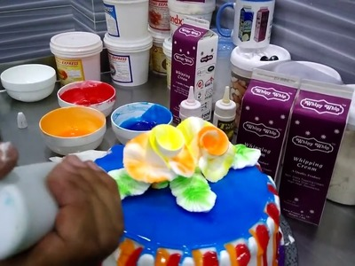 A tutorial of decorating cake with Whipy Whip Cream.