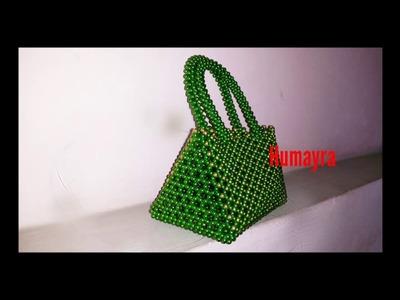 Beaded Ladies Bag. Beaded Bridal Purse Tutorial (design1).পুতির ব্যাগ টিউটোরিয়াল. 21.03.2017
