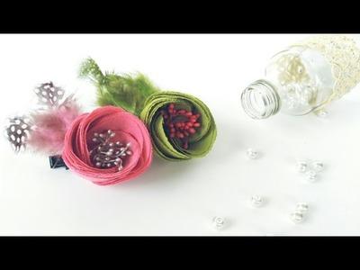 Beautiful Tulip Flowers Hair Clip | DIY by Elysia Handmade