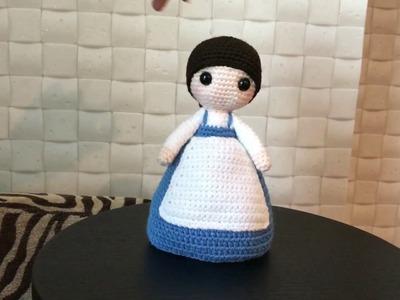 """Beauty and the Beast"" Belle Crochet Amigurumi"