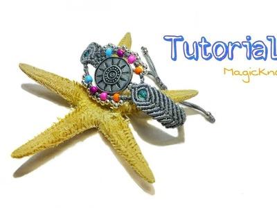 Boho Bracelet  # 1 Tutorial Macrame ♥