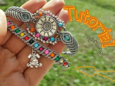 Boho Bracelet #2 Tutorial Macrame ♥